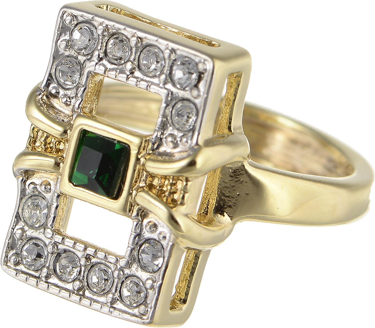Кольцо Jenavi Изумрудные мечты. Риголит, цвет: золотой, зеленый. h802q030. Размер 16h802q030Элегантное кольцо Jenavi Изумрудные мечты. Риголит изготовлено из гипоаллергенного ювелирного сплава. Декоративная часть оформлена кристаллами Swarovski. Такое стильное кольцо идеально дополнит ваш образ и подчеркнет вашу индивидуальность.
