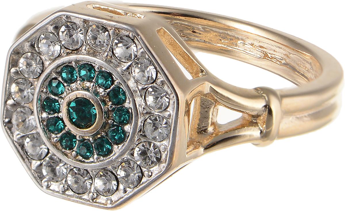 Кольцо Jenavi Изумрудные мечты. Амсто, цвет: золотой, зеленый. h800q030. Размер 18h800q030Элегантное кольцо Jenavi Изумрудные мечты. Амсто изготовлено из гипоаллергенного ювелирного сплава. Декоративная часть оформлена кристаллами Swarovski. Такое стильное кольцо идеально дополнит ваш образ и подчеркнет вашу индивидуальность.