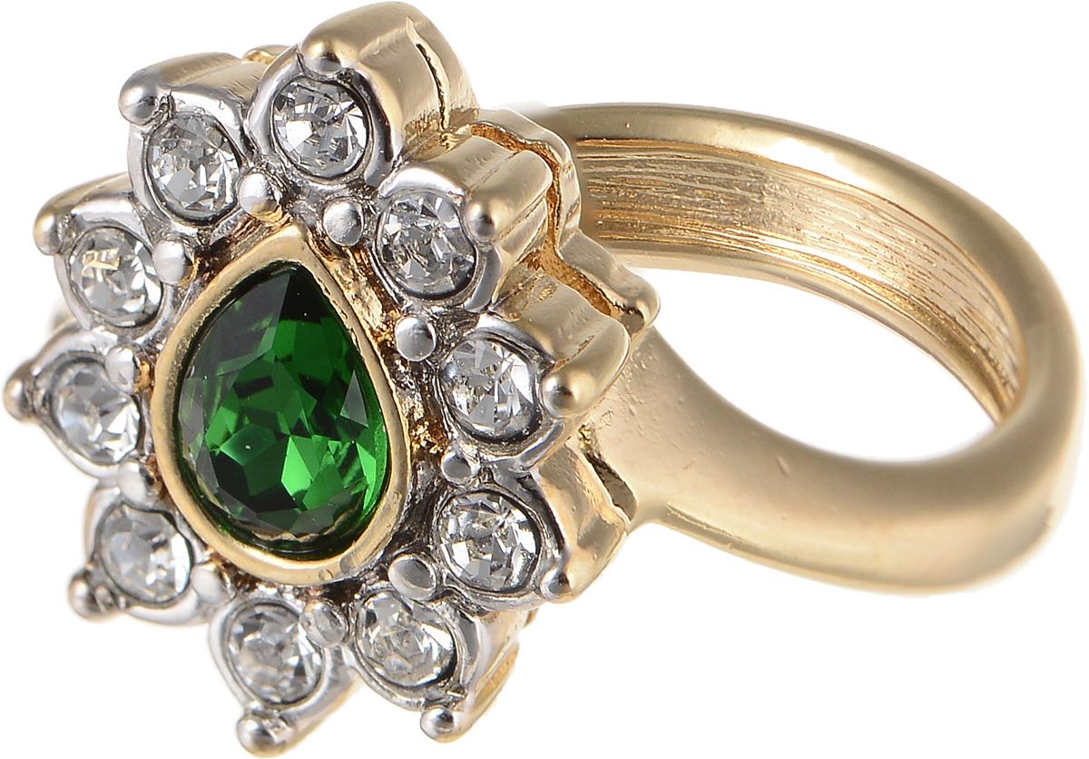 Кольцо Jenavi Изумрудные мечты. Тионель, цвет: золотой, зеленый. h796q030. Размер 16h796q030Элегантное кольцо Jenavi Изумрудные мечты. Тионель изготовлено из гипоаллергенного ювелирного сплава. Декоративная часть оформлена кристаллами Swarovski. Такое стильное кольцо идеально дополнит ваш образ и подчеркнет вашу индивидуальность.