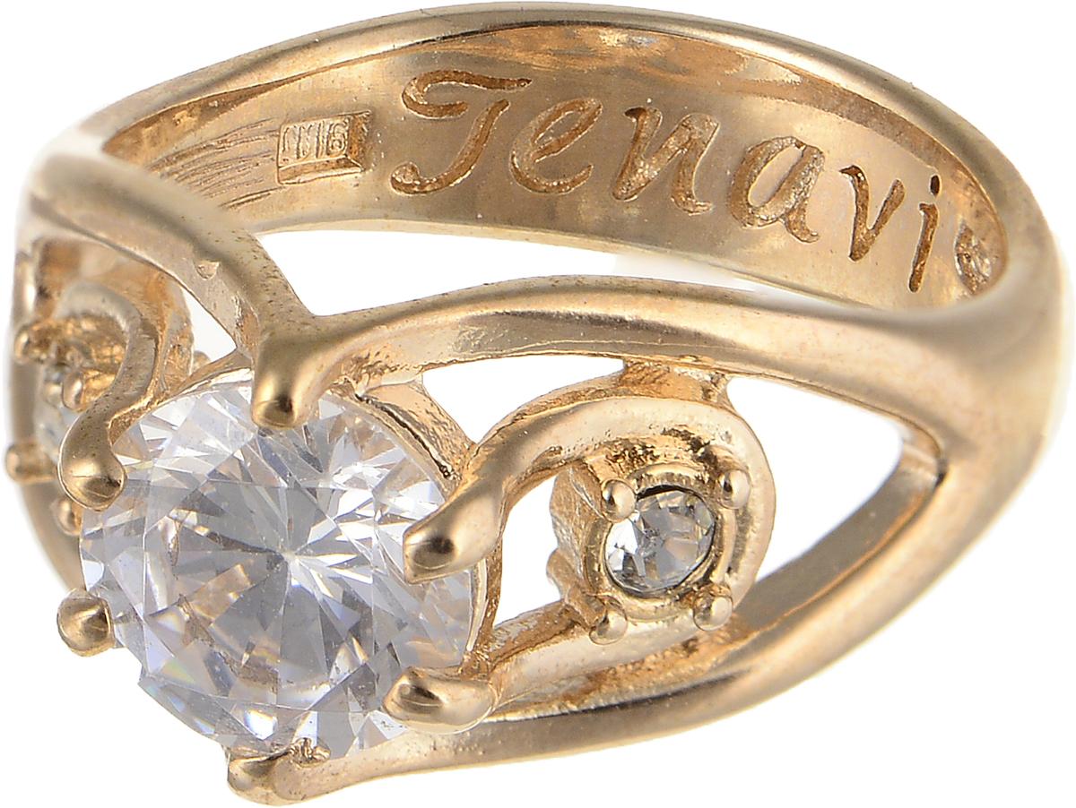Кольцо Jenavi Teona. Рутера, цвет: золотой. f418p0a0. Размер 20f418p0a0Элегантное кольцо Jenavi Teona. Рутера изготовлено из гипоаллергенного ювелирного сплава. Декоративная часть оформлена фианитами. Внутренняя сторона изделия дополнена гравировкой с названием бренда. Такое стильное кольцо идеально дополнит ваш образ и подчеркнет вашу индивидуальность.