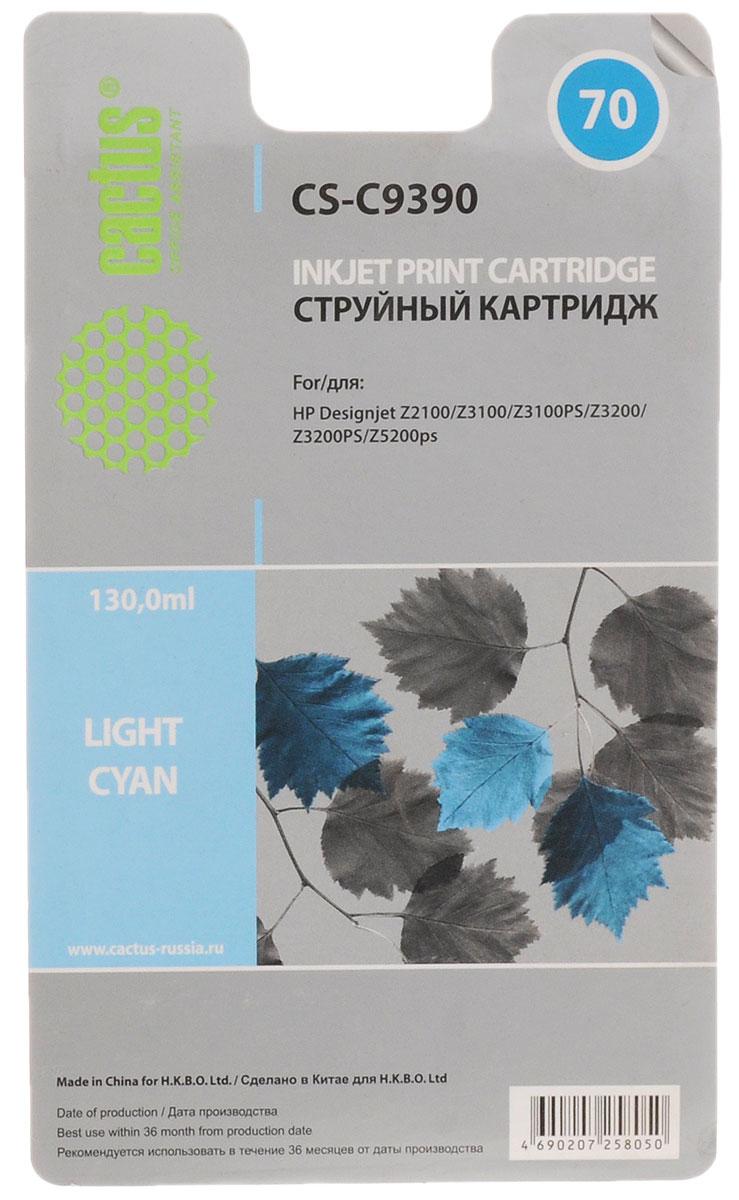 Cactus CS-C9390 №70, Light Cyan картридж струйный для HP DeskJet Z3100CS-C9390Картридж Cactus CS-C9390 №70 для струйных принтеров HP DJ Z3100. Расходные материалы Cactus для струйной печати максимизируют характеристики принтера. Обеспечивают повышенную чёткость чёрного текста и плавность переходов оттенков серого цвета и полутонов, позволяют отображать мельчайшие детали изображения. Обеспечивают надежное качество печати.
