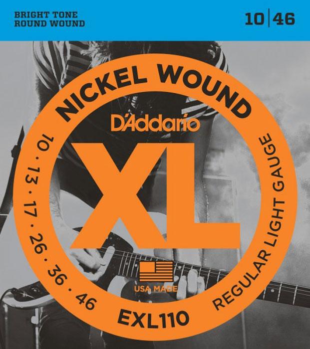 DAddario EXL110 струны для электрической гитарыDNT-13027Daddario EXL110 - это комплект-бестселлер DAddario, обеспечивающий идеальное сочетание звучания, гибкости и длительного срока эксплуатации. Эти струны являются стандартными для большинства электрических гитар. Струны XL с никелевой обмоткой - самые популярные струны DAddario для электрогитары - выполняются в прецизионной обмотке из стали с никелевым покрытием, нанесенной на тщательно изготовленный сердечник шестигранного профиля из стали с высоким содержанием углерода. В результате получаются струны с долгим, отчетливо ярким звучанием и превосходной интонацией, идеально подходящие для самого широкого спектра гитар и музыкальных стилей. Первые струны: высокоуглеродистая сталь Басовые струны: сталь (никелевое покрытие) - круглая обмотка Шестигранный корд Натяжение: Regular Light