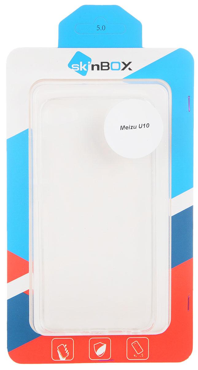 Skinbox Slim Silicone чехол для Meizu U10, Transparent
