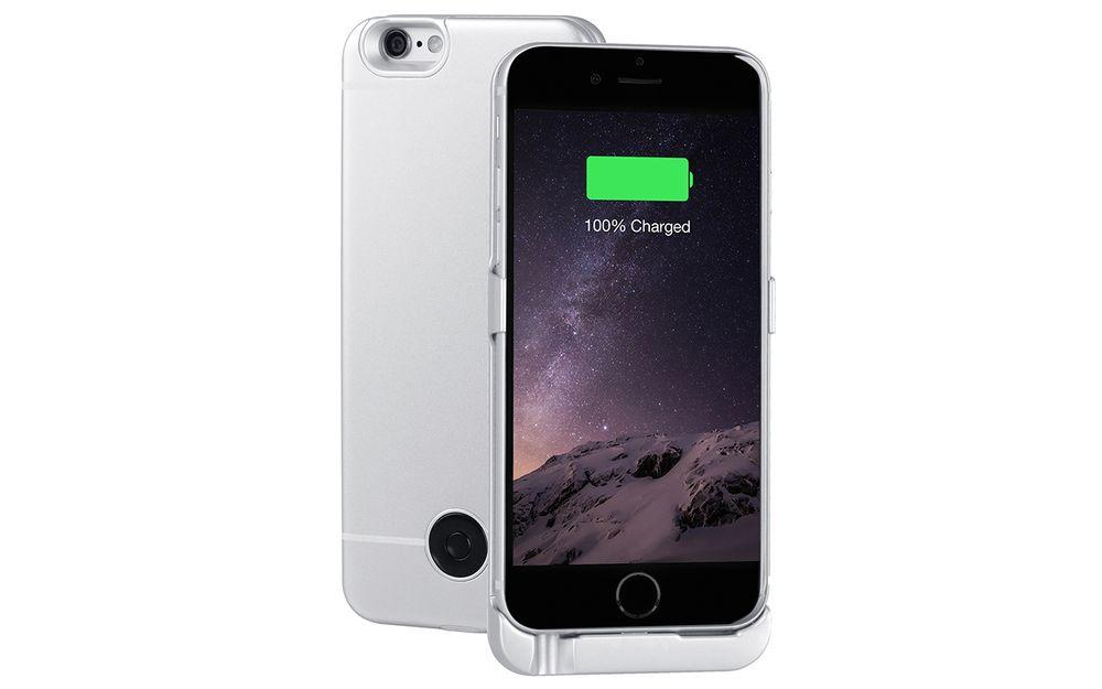 Interstep чехол-аккумулятор для Apple iPhone 6, Silver (3000 мАч) 40372