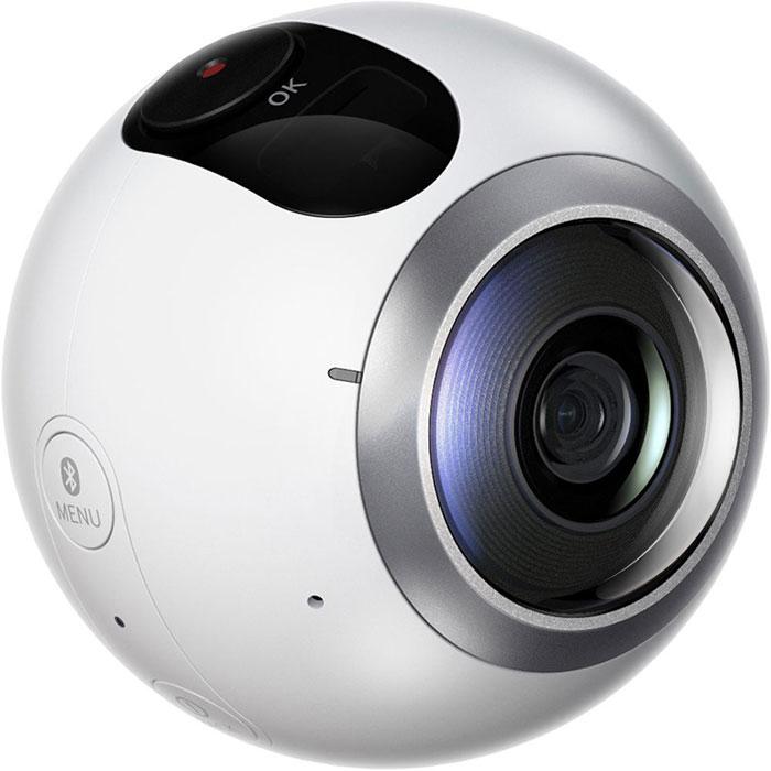 Samsung SM-C200 Gear 360, White панорамная камераSM-C200NZWASERКомпактная панорамная камера Samsung SM-C200 Gear 360 – это новый способ сохранить впечатления. Два объектива работают вместе, снимая видео с круговым обзором 360° или бесшовные вертикальные и горизонтальные панорамные фотографии. Камера захватывает большую площадь обзора, чем человеческий взгляд! Пользоваться ею невероятно просто – снимайте панорамный контент для Gear VR легко и с удовольствием и делитесь им с друзьями. Снимайте с любого ракурса, с любым углом обзора: даже при слабом освещении вы получите плавное, резкое видео и яркие, чёткие фотографии. Камера захватывает каждую деталь, не пропуская ни одного участка. Позже вы сможете просмотреть отснятое видео на смартфоне, ПК или в очках Gear VR и снова почувствовать себя в центре событий. Можно использовать только один из двух объективов, чтобы снять широкоугольное фото или динамичное видео. Камера снимает фото с разрешением до 30 Мпикс и видео в sUHD качестве (3840 х 1920 пикселей)....