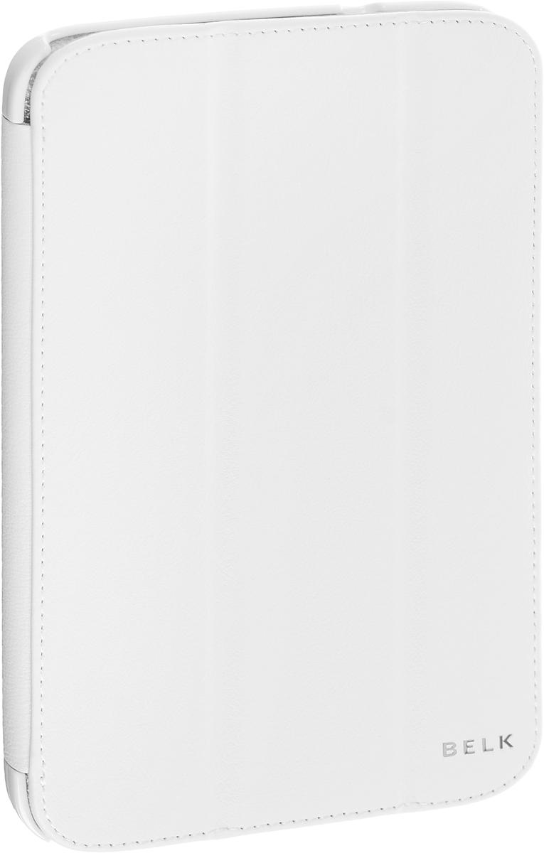 Belk чехол для Samsung Galaxy Tab 3 8.0, WhiteR0000334Чехол Belk для Samsung Galaxy Tab 3 8.0 надежно защищает ваш планшет от внешних воздействий, грязи, пыли, брызг. Он также поможет при ударах и падениях, не позволив образоваться на корпусе царапинам и потертостям. Чехол обеспечивает свободный доступ ко всем функциональным кнопкам и камере устройства.