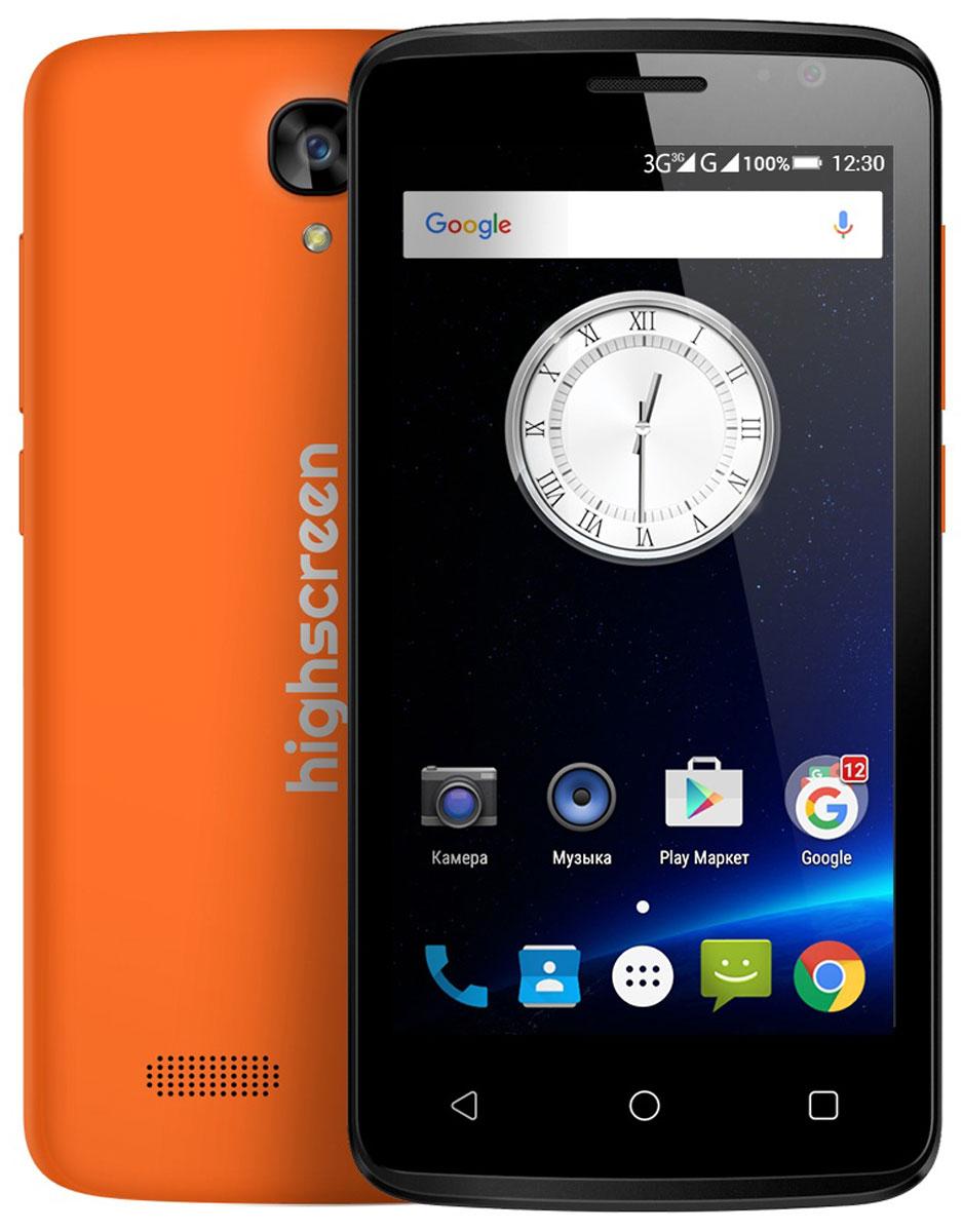 Highscreen Easy S Pro, Orange23526Highscreen Easy S Pro - поразит тебя дизайном, идеальными линиями корпуса и компактными размерами. Качественные материалы, сбалансированные характеристики, невысокая цена и простота в освоении - это все новая серия смартфонов Easy. Highscreen Easy S Pro работает на базе новейшей операционной системе Android 6 Marshmallow, которая стала еще безопаснее и имеет более высокую производительность и энергоэффективность по сравнению с прошлыми версиями. А еще мы не добавляем мусорные приложения и игры, тем самым позволяя тебе самому быть хозяином своего смартфона. Яркий и контрастный HD - экран, выполненный по технологии IPS, обеспечивает правильную и точную цветопередачу. Повышенная чувствительность дисплея пригодится в динамичных играх и при наборе текста, когда требуется моментальный отклик и точное попадание. Не отставай от друзей и радуй себя и их качественными снимками. Ты можешь делать фото как в автоматическом так и в профессиональном режиме, где...