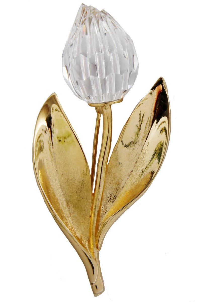 Брошь Хрустальный цветок. Бижутерный сплав, кристалл. США, конец XX векаОС28312