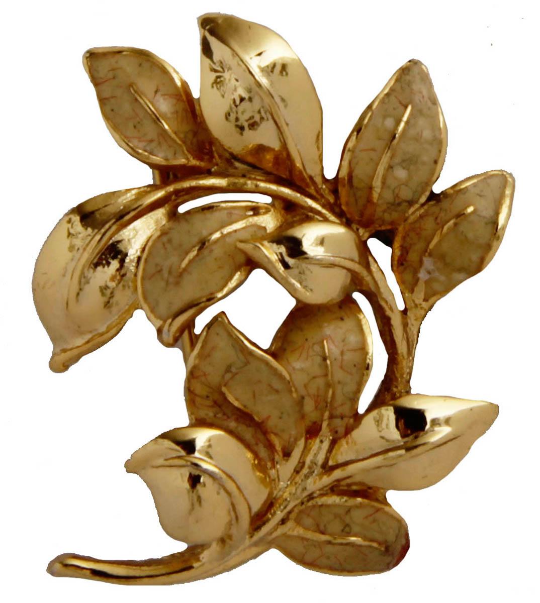 Брошь В золотом... Бижутерный сплав. Франция, конец XX векаОС28315