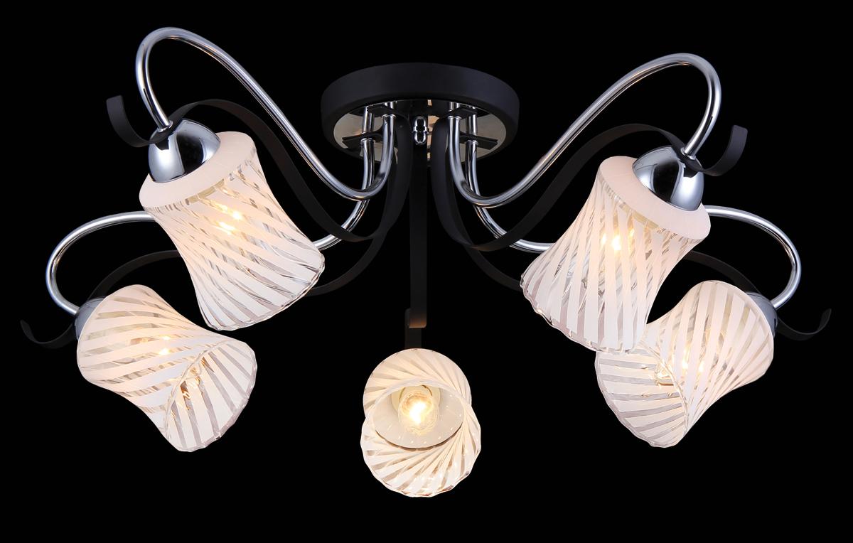 Люстра Natali Kovaltseva, 5 x E14, 60W. 11441/5C11441/5C CHROMEВ коллекциях NATALI KOVALTSEVA представлены разные стили – от классики до хайтека. Дизайн и технологическая составляющая продукции разрабатывается в R&D центре компании, который находится в г. Дюссельдорф, Германия. При производстве нашей продукции используются высококачественные и эксклюзивные материалы: хрусталь ASFOR, муранское стекло, перламутр, 24-каратное золото, бронза. Производство светильников соответствует стандарту системы менеджмента качества ISO 9001-2000. На всю продукцию ТМ Natali Kovaltseva распространяется гарантия.