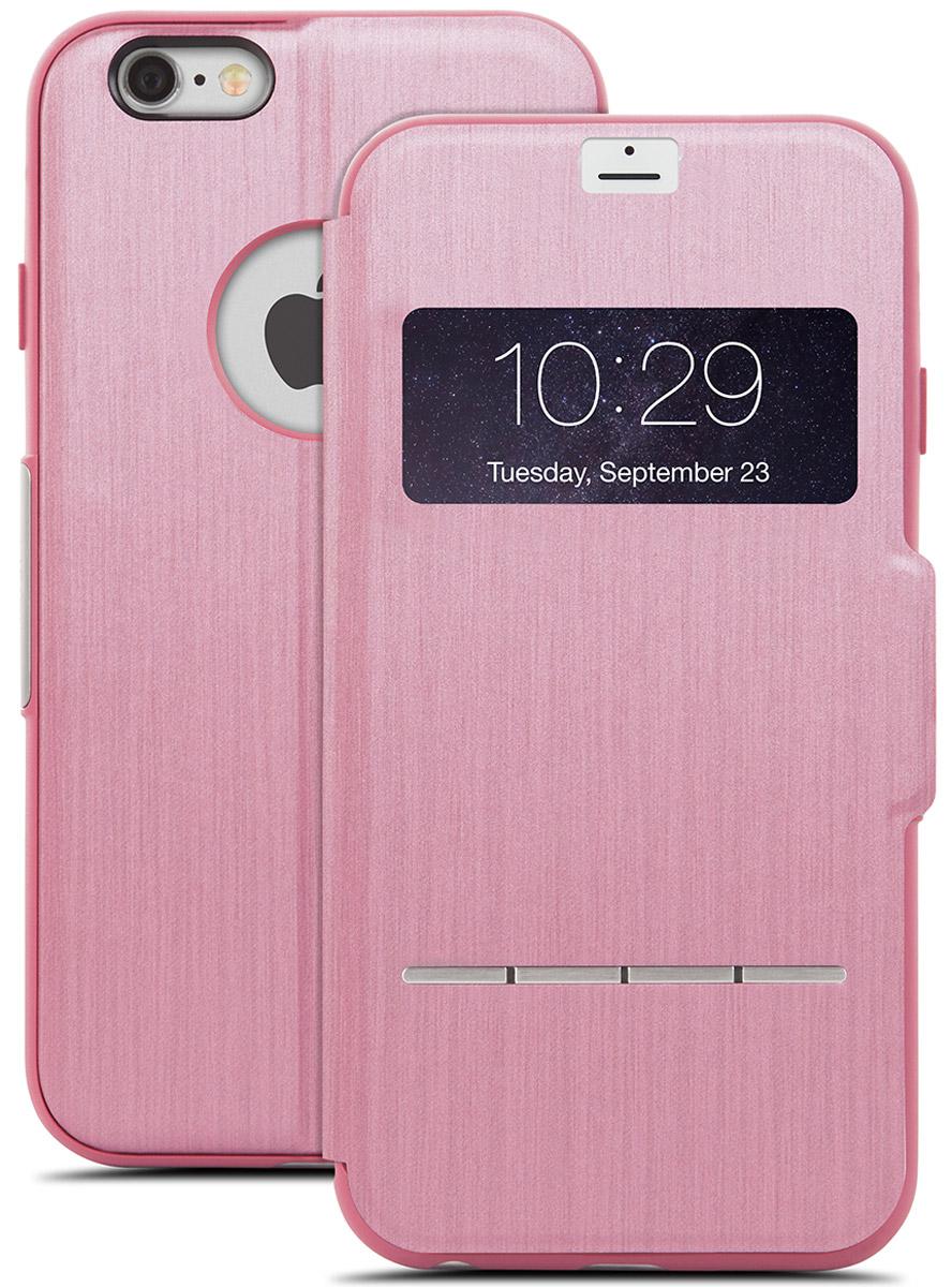 Moshi SenseCover чехол для iPhone 6 Plus/6s Plus, Rose Pink21854Чехол Moshi SenseCover для iPhone 6 Plus/6s Plus обеспечивает смарт-функциональность и полную защиту вашего iPhone. Встроенные SensArray кнопки-подушечки позволяют отвечать на звонки, не открывая крышку. Кроме того, окно просмотра, устойчивое к царапинам, позволяет проверить такую информацию, как дата / время и номер вызывающего абонента с одного взгляда. Чехол легко трансформируется в подставку, создавая комфорт при работе, чтении, просмотре фильмов.