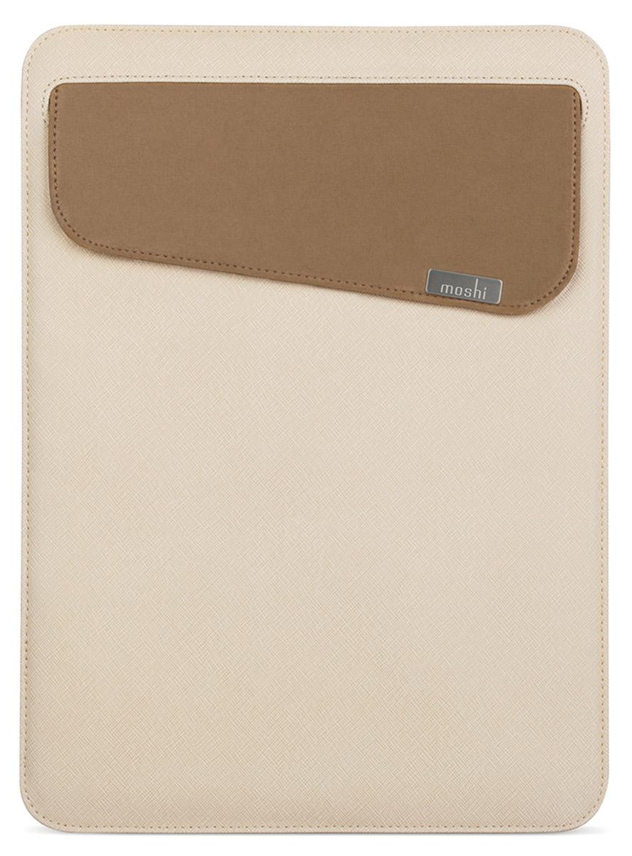 Moshi Muse 12 чехол для MacBook 12, Beige21857Чехол Moshi Muse для MacBook 12 - стильный и практичный кейс для MacBook. Он выполнен в форме чехла-кармана и предназначен для переноски ноутбука и сопутствующих аксессуаров. Этот прочный снаружи чехол защищает от мелких царапин и ударов, а мягкая микрофибра Terahedron внутри удаляет отпечатки пальцев, аккуратно придерживая устройство. Муза имеет отверстие SlipGrip, которое действует в качестве предохранителя, чтобы предотвратить случайное выскальзывание вашего MacBook, даже тогда, когда чехол перевернут. Muse 12 также включает в себя внешний карман для удобного хранения адаптеров и кабелей.