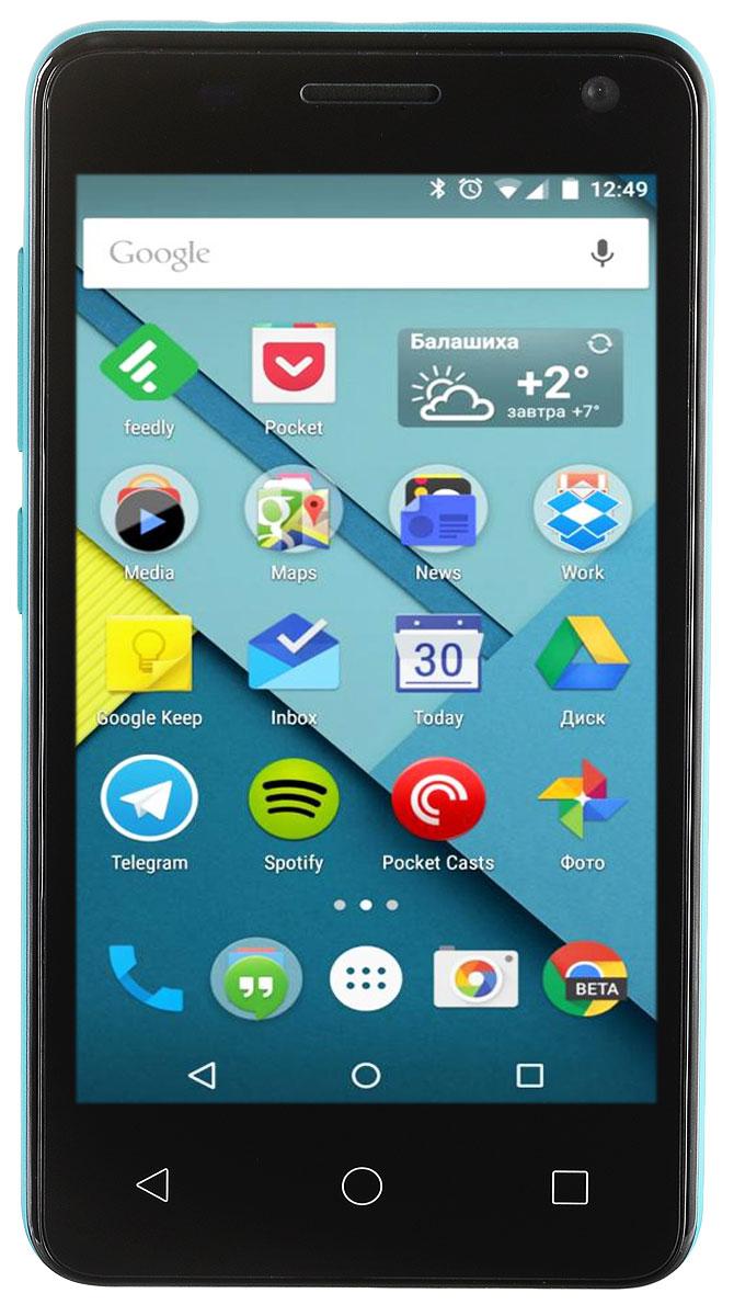 Micromax Canvas Pace mini Q401, Green8904132430068Micromax Canvas Pace mini Q401 - смартфон с экраном диагональю 4 дюйма и процессором Qualcomm Snapdragon 210 с тактовой частотой 1,1 Ггц. Аккумулятор ёмкостью 1 550 мАч обеспечивает до 140 часов в режиме ожидания. Новый Canvas Pace mini Q401 оборудован двумя слотами для SIM-карт: стандартной SIM-карты и microSIM. Смартфон оснащен профилями беспроводной связи, фотокамерами на тыловой и фронтальной поверхностях и спутниковой навигацией. Работа устройства производится под управлением операционной системы Android 5.1 Lollipop. Телефон сертифицирован EAC и имеет русифицированный интерфейс меню и Руководство пользователя.