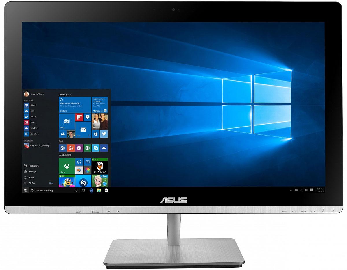 ASUS Vivo AiO V230ICUK, Black моноблок (V230ICUK-BC246X)V230ICUK-BC246XВ тонком и компактном корпусе моноблока Asus Vivo AiO V230ICUK разместились все компоненты современного компьютера - дисплей, процессор, видеокарта, память, диск и многое другое. Этот новый моноблочный ПК, получивший новейший процессор и мощную графическую систему, оснащается стильной металлической подставкой. Современный моноблок серии Vivo AiO - это компактное устройство с полным набором возможностей настольного компьютера. Благодаря тонкому корпусу он не занимает много места на столе, способствуя созданию уютной обстановки в помещении. Стильная серебристая подставка, используемая в моноблоке V230IC, придает ему дополнительную изящность. Уникальный шарнирный механизм спрятан под задней панелью, что делает внешний вид устройства еще более утонченным и органичным. Новейший процессор Intel сделает комфортной работу с несколькими одновременно запущенными программами, а технология Intel Turbo Boost 2.0 придает ему дополнительную скорость в...