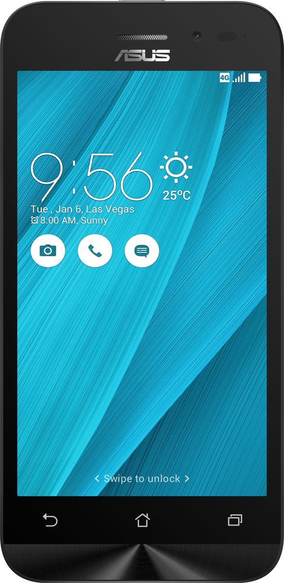 ASUS ZenFone Go ZB450KL, Silver Blue (90AX0097-M00400)90AX0097-M00400Asus ZenFone Go ZB450KL - стильный современный смартфон с множеством вариантов цветов корпуса. Современный процессор Qualcomm Snapdragon обеспечивает высокую производительность ZenFone Go в многозадачном режиме. ZenFone Go выполнен в эргономичном корпусе, который удобно ложится в ладонь. Оригинальным и весьма удобным решением в его дизайне является расположенная на задней панели корпуса кнопка, с помощью которой можно делать фотоснимки, изменять громкость звука и т.д. Подчеркните свою индивидуальность, выбрав ZenFone Go своего любимого цвета из нескольких доступных вариантов. А затем установите соответствующую визуальную тему пользовательского интерфейса ASUS ZenUI. Для съемки ярких фотографий данный смартфон оснащается тыловой камерой с высоким разрешением. Ловите красивые моменты жизни вместе с ZenFone Go! ZenFone Go оснащается двумя слотами для SIM-карт, что позволяет использовать одновременно два телефонных номера, например...