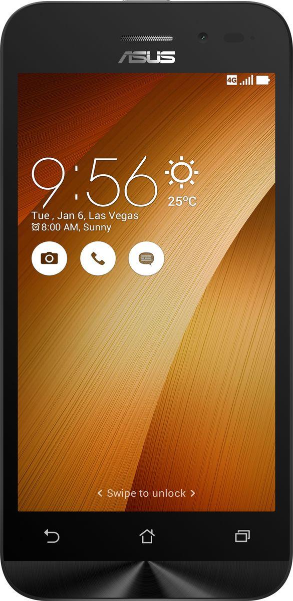 Asus ZenFone Go ZB450KL, Gold (90AX0095-M00210)90AX0095-M00210Asus ZenFone Go ZB450KL - стильный современный смартфон с множеством вариантов цветов корпуса. Современный процессор Qualcomm Snapdragon обеспечивает высокую производительность ZenFone Go в многозадачном режиме. ZenFone Go выполнен в эргономичном корпусе, который удобно ложится в ладонь. Оригинальным и весьма удобным решением в его дизайне является расположенная на задней панели корпуса кнопка, с помощью которой можно делать фотоснимки, изменять громкость звука и т.д. Подчеркните свою индивидуальность, выбрав ZenFone Go своего любимого цвета из нескольких доступных вариантов. А затем установите соответствующую визуальную тему пользовательского интерфейса ASUS ZenUI. Для съемки ярких фотографий данный смартфон оснащается тыловой камерой с высоким разрешением. Ловите красивые моменты жизни вместе с ZenFone Go! ZenFone Go оснащается двумя слотами для SIM-карт, что позволяет использовать одновременно два телефонных номера, например...