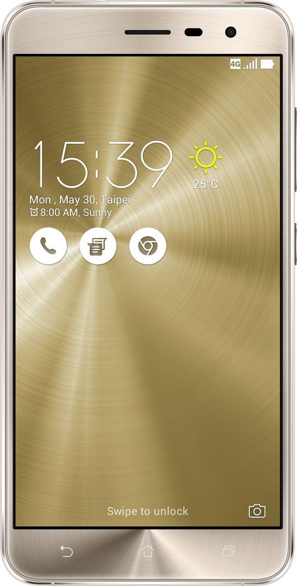 Asus ZenFone 3 ZE552KL, Shimmer Gold (90AZ0123-M01160)90AZ0123-M01160Asus ZenFone 3 - это современный смартфон с оригинальным дизайном и высококачественной камерой, который станет вашу жизнь чуть более необычной. Современный смартфон, отделанный с обеих сторон защитным стеклом безупречно выверенной формы. Тонкий корпус, который идеально ложится в ладонь. Оригинальный узор из концентрических окружностей, украшающий заднюю панель и выгравированный на кнопках, как отражение философской гармонии Дзен. Вы хотите получить совершенно новые впечатления от своего нового смартфона? Просто взгляните и прикоснитесь к ZenFone 3. ZenFone 3 - это синоним тонкой работы. Заключенный в корпус из высокопрочного стекла Corning Gorilla Glass со скругленными кромками, данный смартфон имеет толщину всего 7,69 мм. Красоту его изысканного дизайна подчеркивают акценты на боковых гранях, выполненные методом алмазной резки. Это шедевр современного инженерного искусства, которым вы никогда не устанете наслаждаться. ZenFone 3...