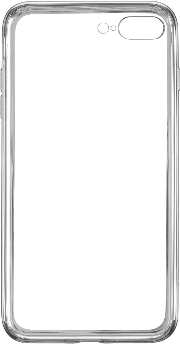 Deppa Gel Plus Case чехол для Apple iPhone 7 Plus, Silver85259Чехол Deppa Gel Plus Case для Apple iPhone 7 Plus предназначен для защиты корпуса смартфона от механических повреждений и царапин в процессе эксплуатации. Плотный высокотехнологичный TPU (силикон) производства Bayer в разы повышает защитные функции чехла. Кейс эластичен, устойчив к изломам, не запотевает и не желтеет даже при длительной эксплуатации. Кейс надежно защищает iPhone со всех сторон и имеет все необходимые, тщательно выверенные отверстия для доступа к функциональным портам, разъемам и кнопкам смартфона. Вы можете легко зарядить устройство, не снимая чехол. Специально разработанный кейс для iPhone выполнен с применением особой технологии Electroplating: специальное гальванопокрытие и стильная рамка с эффектом металла придают особый шик вашему устройству.