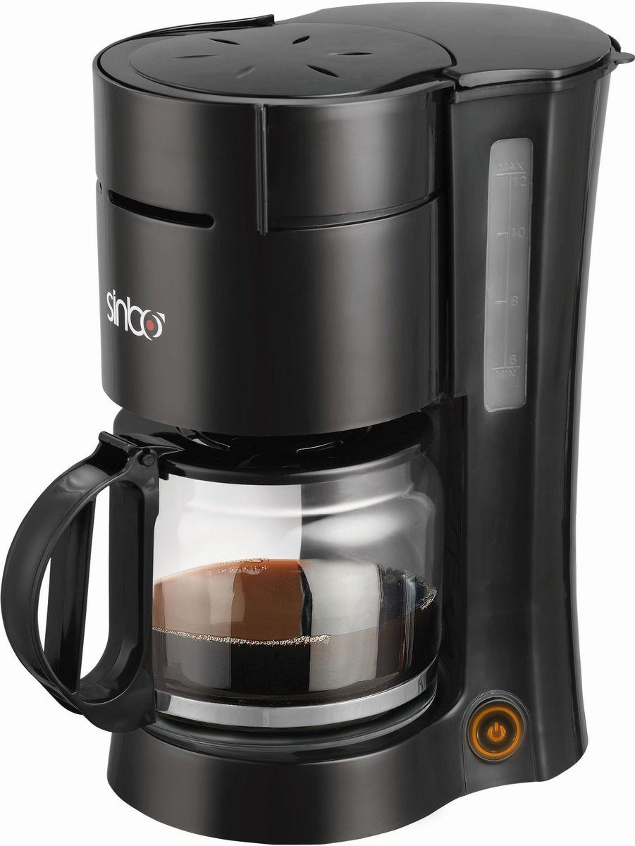 Sinbo SCM 2940, Black кофеваркаSCM 2940Капельная кофеварка Sinbo SCM 2940 незаменимая вещь на кухне для любителей терпкого напитка. Sinbo SCM 2940 имеет вместительный кувшин и резервуар для воды (1,5 л). Кувшин выполнен из надежного термостойкого стекла. Возможность использования бумажных фильтров идеально дополняют функциональность аппарата. Вы будете очарованы каждой каплей потрясающего кофе!