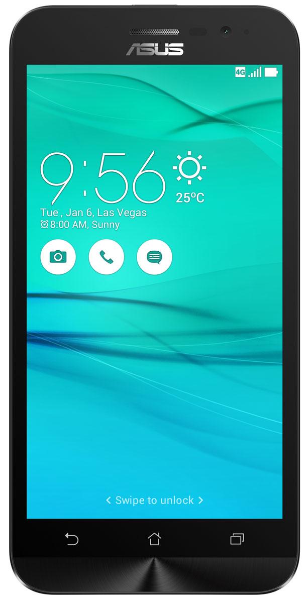 ASUS ZenFone Go ZB500KL, White (90AX00A2-M00730)90AX00A2-M00730Поддержка двух SIM-карт, четкое изображение, интуитивно понятный пользовательский интерфейс - все это вы найдете в новом смартфоне Asus ZenFone Go ZB500KL. Линейка мобильных продуктов Asus, разрабатываемых под общей философией Zen, - это устройства, которыми приятно пользоваться. Сочетая в себе широкую функциональность и великолепный дизайн, они идеально подходят для современного, мобильного стиля жизни. ZenFone Go выполнен в эргономичном корпусе, который удобно ложится в ладонь. Оригинальным и весьма удобным решением в его дизайне является расположенная на задней панели корпуса кнопка, с помощью которой можно делать фотоснимки, изменять громкость звука и т.д. Подчеркните свою индивидуальность, выбрав ZenFone Go своего любимого цвета из нескольких доступных вариантов. А затем установите соответствующую визуальную тему пользовательского интерфейса ASUS ZenUI. В ZenFone Go реализована эксклюзивная технология PixelMaster,...