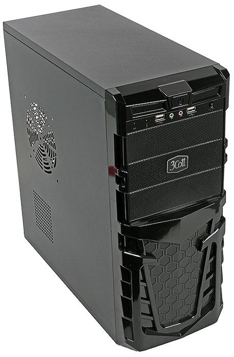 3Cott Gaul компьютерный корпус (3C-ATX112G)3C-ATX112G3Cott Gaul – ATX корпус для сборки игровых систем начального уровня. Черная передняя панель выполнена в брутальном стиле, с черными глянцевыми гранями и декоративным узором в виде сот. Кнопка включения, дополнительные USB 2.0 порты и аудиовыходы расположены в верхней части передней панели. Блок питания мощностью 500 Вт позволяет использовать требовательные к питанию комплектующие, а продуманная система отвода тепла с возможностью установки дополнительных вентиляторов обеспечит стабильное охлаждение плат расширения.