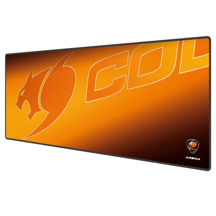 Cougar Arena, Orange коврик для мышиCUARИгровой коврик для мыши Cougar Arena является уникальным полем для битвы в любой игре, поверхность коврика обеспечивает идеальное скольжение. Внушительные размеры позволят разместить всю игровую периферию на одной поверхности и дадут новые ощущения от игры. Нескользящая черная резиновая основа с волнообразной фактурой гарантирует высокоточную работу сенсора, позволяя обойтись без лишних рывков. Водонепроницаемая текстурная 3D поверхность обеспечивает максимально точное сцепление с мышью. Коврик выдерживает любую пролитую жидкость! 5 мм: идеальная толщина для наилучшего комфорта кисти руки. Износостойкий край с прострочкой обеспечивает более долгий срок службы.