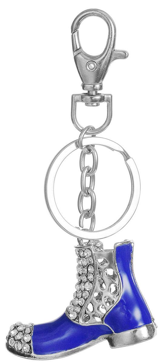 Брелок Fashion House, цвет: синий, серебристый. FH26661FH26661Изящный брелок Fashion House выполнен в форме синего ботинка, усыпанного стразами. Брелок оснащен крупным крепежным кольцом и карабином на небольшой цепочке. Порадуйте себя или своих близких оригинальным подарком, который сможет украсить повседневную жизнь его обладателя!