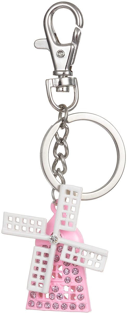Брелок Fashion House, цвет: белый, розовый. FH26007FH26007Оригинальный брелок Fashion House выполнен в виде мельницы, декорированной стразами, с вращающимся пропеллером. Брелок оснащен крупным крепежным кольцом и карабином на миниатюрной цепочке. Этот аксессуар станет прекрасным дополнением к подарку и украсит повседневную жизнь его обладателя.