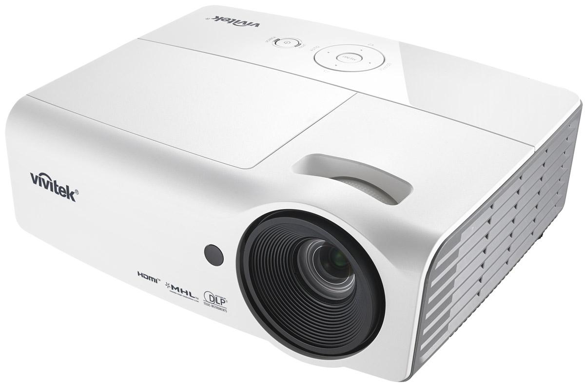 Vivitek H1060, White кинотеатральный проектор813097021625Vivitek H1060 подходит для любых современных мультимедийных развлечений, будь то семейный просмотр нового фильма, компьютерные игры шумной компанией или футбол на большом экране. Он удачно впишется даже в небольшую комнату и обеспечит насыщенную и впечатляющую картинку, благодаря яркости 3000 ANSI Лм и уровню контрастности 15000:1. Этот проектор оснащен двумя HDMI интерфейсами с поддержкой MHL, встроенной акустической системой и множеством предустановок под разные типы контента. Удобная верхняя крышка для замены лампы, которой вы вряд ли воспользуетесь. Ведь сама лампа проработает 10 000 часов, а это несколько лет ежедневных просмотров. Герметичный оптический тракт препятствует попаданию пыли и грязи в оптический блок, что гарантирует чистую и четкую картинку в течении всего срока службы проектора. Чип: 0,65 DMD Максимальное поддерживаемое разрешение: WUXGA (1920x1200) Проекционная система: DLP Проекционное отношение: 1.14 - 1.5:1 ...