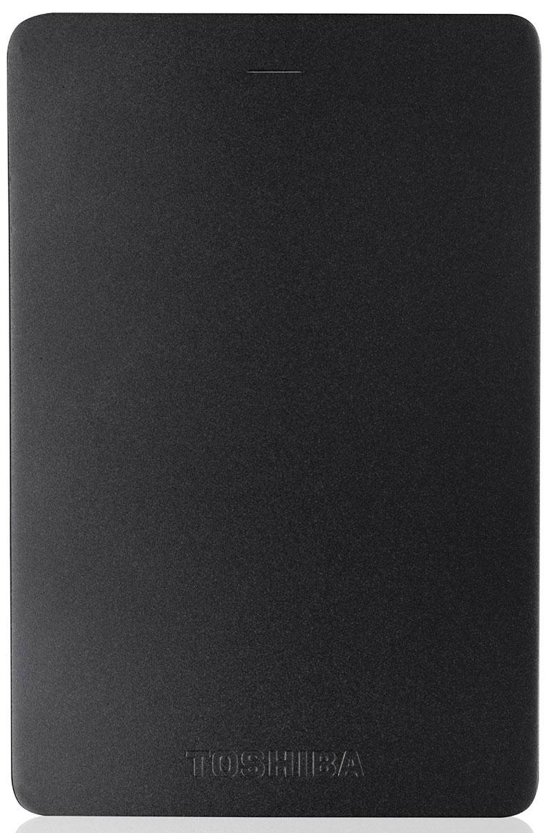 Toshiba Canvio Alu 1TB, Black внешний жесткий диск (HDTH310EK3AA)HDTH310EK3AAХраните важные данные надежно на внешнем жестком диске Toshiba Canvio Alu! Доступ к записанной информации осуществляется быстро и легко при помощи подключения USB 3.0. С его элегантным алюминиевым корпусом в различных цветовых вариациях вы приобретаете стильное и яркое решение для хранения нужных файлов. Диск необычайно прост в использовании, встроенное программное обеспечение резервного копирования NTI позволяет делать регулярные автоматические резервные копии данных для дополнительной безопасности.