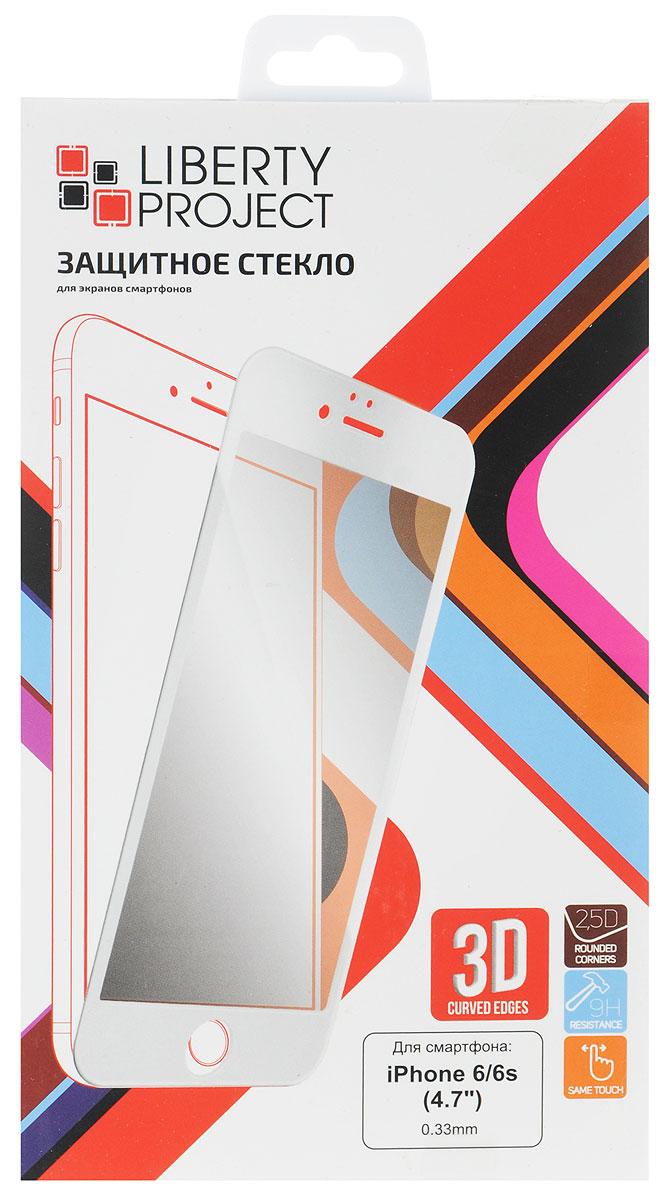 Liberty Project Tempered Glass 3D защитное стекло для Apple iPhone 6/6s, White (0,33 мм)0L-00027127Защитное стекло Liberty Project Tempered Glass 3D для Apple iPhone 6/6s обеспечивает надежную защиту сенсорного экрана устройства от большинства механических повреждений и сохраняет первоначальный вид дисплея, его цветопередачу и управляемость. В случае падения стекло амортизирует удар, позволяя сохранить экран целым и избежать дорогостоящего ремонта. Стекло обладает особой структурой, которая держится на экране без клея и сохраняет его чистым после удаления. Силиконовый слой предотвращает разлет осколков при ударе.