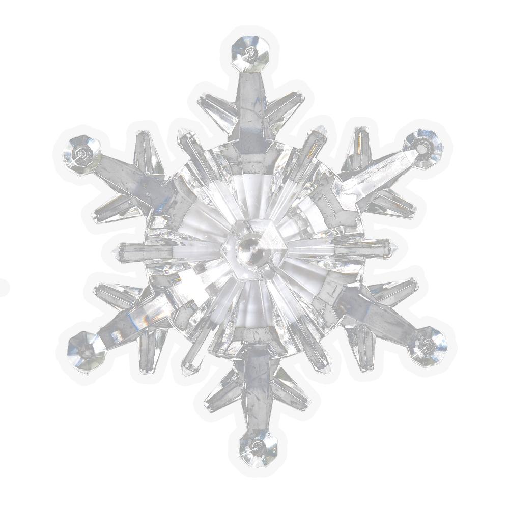 Фигура светодиодная Vegas Снежинка, на присоске, 10,5 х 10,5 см, свет: мультиколор. 5505555055Светодиодные фигурки VEGAS Фигурка Снежинка светодиодная на присоске 10,5*10,5 см, меняет цвет, с батарейкой /48