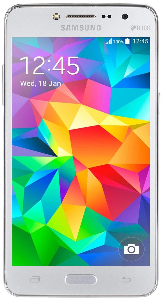 Samsung SM-G532F Galaxy J2 Prime DS, SilverSM-G532FZSDSERSamsung SM-G532F Galaxy J2 Prime DS отличается элегантным дизайном передней панели, который значительно усиливает впечатление от просмотра. При толщине 8,9 мм и ширине 72,1 мм, смартфон Galaxy J2 Prime DS выглядит изящно, приятная на ощупь текстура корпуса подчеркивает элегантность формы и ощущение комфорта при использовании смартфона. Аккумулятор с емкостью 2600 мАч позволит оставаться на связи дольше обычного. При отсутствии возможности подзарядки используйте режим максимального энергосбережения. Производительный 4-ядерный процессор 1,4 ГГц и 1,5 ГБ оперативная память обеспечивают мгновенную реакцию смартфона на любые ваши действия. Удобное приложение Smart Manage Простой способ управления основными функциями смартфона: уровень заряда аккумулятора, доступный объем памяти, состояние использования оперативной памяти и безопасность смартфона. Телефон сертифицирован EAC и имеет русифицированный интерфейс меню, а...