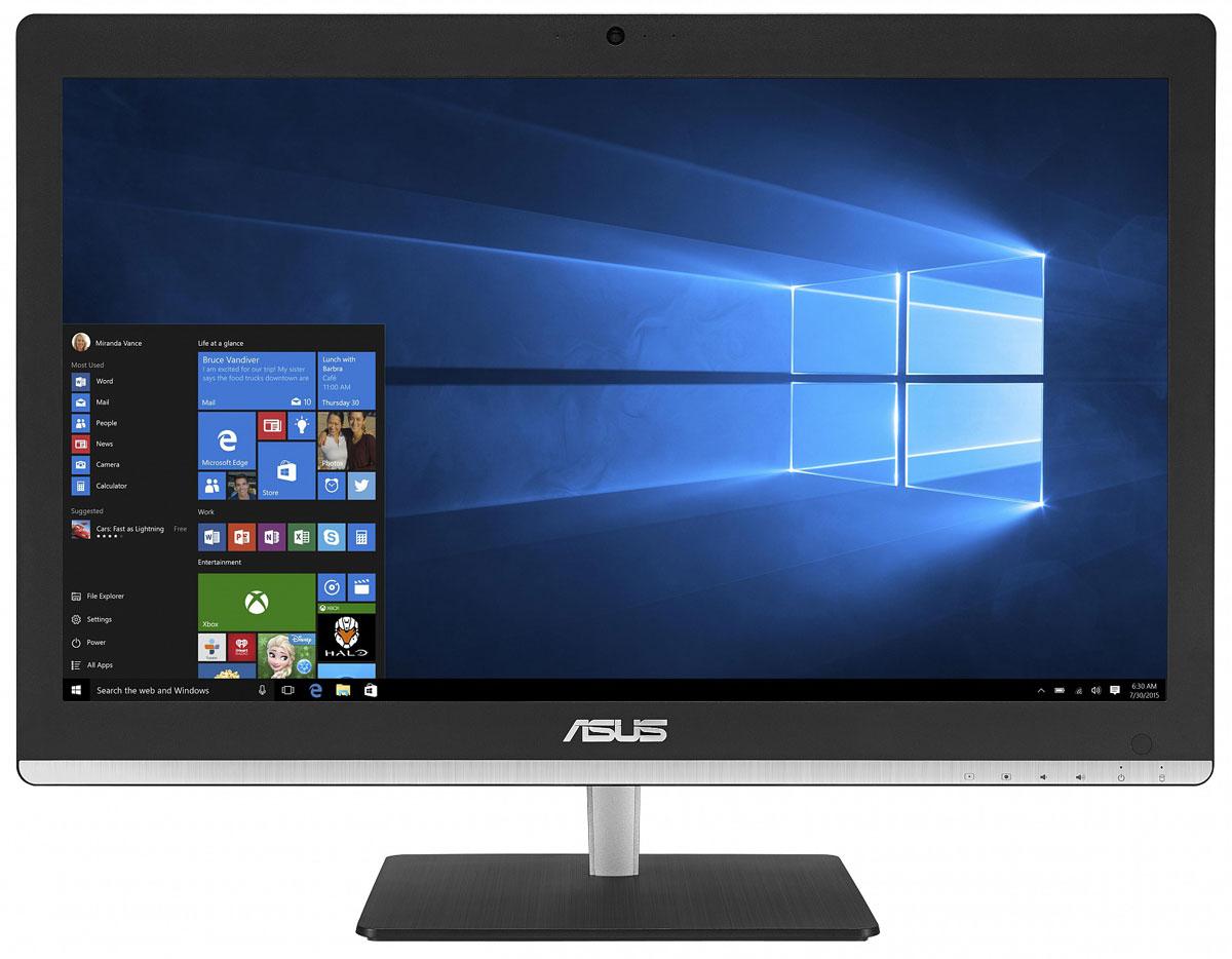 ASUS Vivo AiO V220IBGK, Black моноблок (V220IBGK-BC018X)V220IBGK-BC018XВ тонком и компактном корпусе моноблока Asus Vivo AiO V220IBGK разместились все компоненты современного компьютера - дисплей, процессор, видеокарта, память, диск и многое другое. Этот новый моноблочный ПК, получивший новейший процессор и мощную графическую систему, оснащается стильной металлической подставкой. Современный моноблок серии Vivo AiO - это компактное устройство с полным набором возможностей настольного компьютера. Благодаря тонкому корпусу он не занимает много места на столе, способствуя созданию уютной обстановки в помещении. Стильная серебристая подставка, используемая в моноблоке, придает ему дополнительную изящность. Уникальный шарнирный механизм спрятан под задней панелью, что делает внешний вид устройства еще более утонченным и органичным. Новейший процессор Intel сделает комфортной работу с несколькими одновременно запущенными программами, а технология Intel Turbo Boost 2.0 придает ему дополнительную скорость в те...
