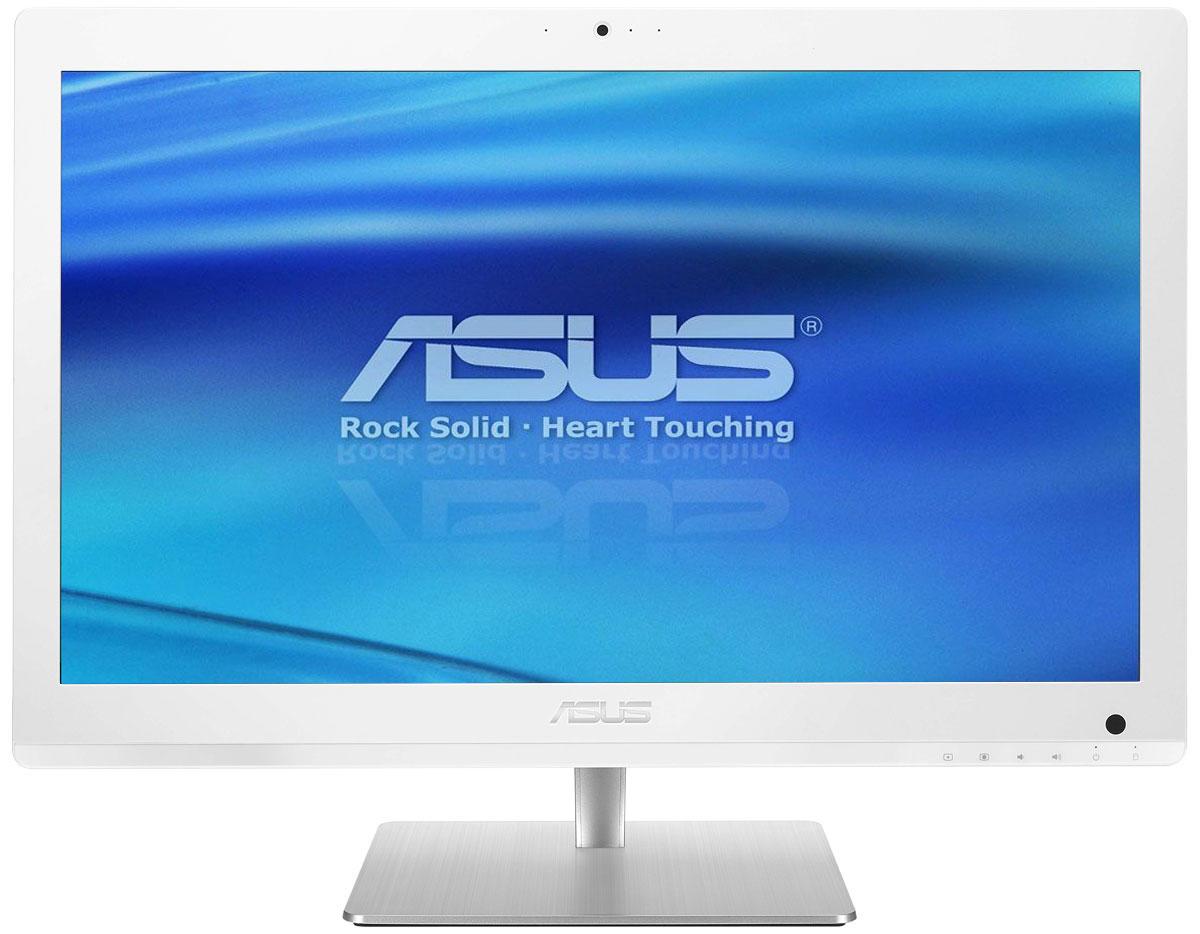 Asus Vivo AiO V220IBUK, White моноблок (V220IBUK-WC005M)V220IBUK-WC005MAsus V220IBUK - это полноценный моноблочный компьютер, включающий в себя дисплей, процессор, видеокарту, оперативную и пользовательскую память. Он выполнен в красивом корпусе, который будет удачно смотреться в домашнем интерьере. Компактное полнофункциональное устройство, такое как моноблочный компьютер Asus V220IBUK, идеально подходит для современного дома, поскольку его можно использовать для самых различных приложений, как рабочих, так и развлекательных, при этом не засоряя домашний интерьер множеством кабелей и дополнительных приспособлений. Изящная подставка прочно удерживает моноблочный компьютер на месте. В отличие от подставок аналогичных моделей, ее верхний конец прикреплен к задней панели дисплея, а не к его основанию. Моноблочный компьютер Asus V220IBUK оснащается процессором Intel, который показывает высокую производительность при низком энергопотреблении. С ним можно комфортно выполнять любые задачи, от веб- серфинга и...