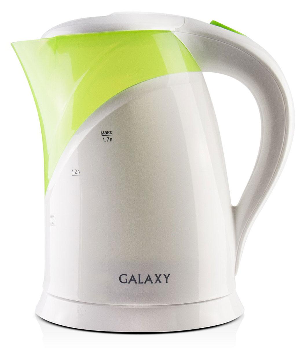 Galaxy GL 0208 электрический чайник4630003362315Galaxy GL 0208 - надежный электрочайник мощностью 2200 Вт в корпусе из качественного пластика. Прибор оснащен скрытым нагревательным элементом и позволяет вскипятить до 1,7 литра воды. Данная модель оборудована светоиндикатором работы, поворотной поверхностью 360° и фильтром для воды. Для обеспечения безопасности при повседневном использовании предусмотрены функция автовыключения, а также защита от включения при отсутствии воды.