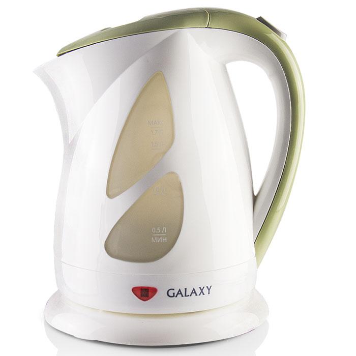 Galaxy GL 0216 электрический чайник4630003366160Galaxy GL 0216 - надежный электрочайник мощностью 2200 Вт в корпусе из качественного пластика. Прибор оснащен скрытым нагревательным элементом и позволяет вскипятить до 1,7 литра воды. Данная модель оборудована светоиндикатором работы, поворотной поверхностью 360° и фильтром для воды. Для обеспечения безопасности при повседневном использовании предусмотрены функция автовыключения, а также защита от включения при отсутствии воды.