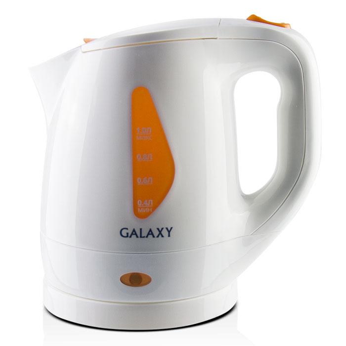 Galaxy GL 0220 электрический чайник4650067300191Galaxy GL 0220 - надежный электрочайник мощностью 900 Вт в корпусе из качественного пластика. Прибор оснащен скрытым нагревательным элементом и позволяет вскипятить до 1 литра воды. Данная модель оборудована светоиндикатором работы, поворотной поверхностью 360° и фильтром для воды. Для обеспечения безопасности при повседневном использовании предусмотрены функция автовыключения, а также защита от включения при отсутствии воды.