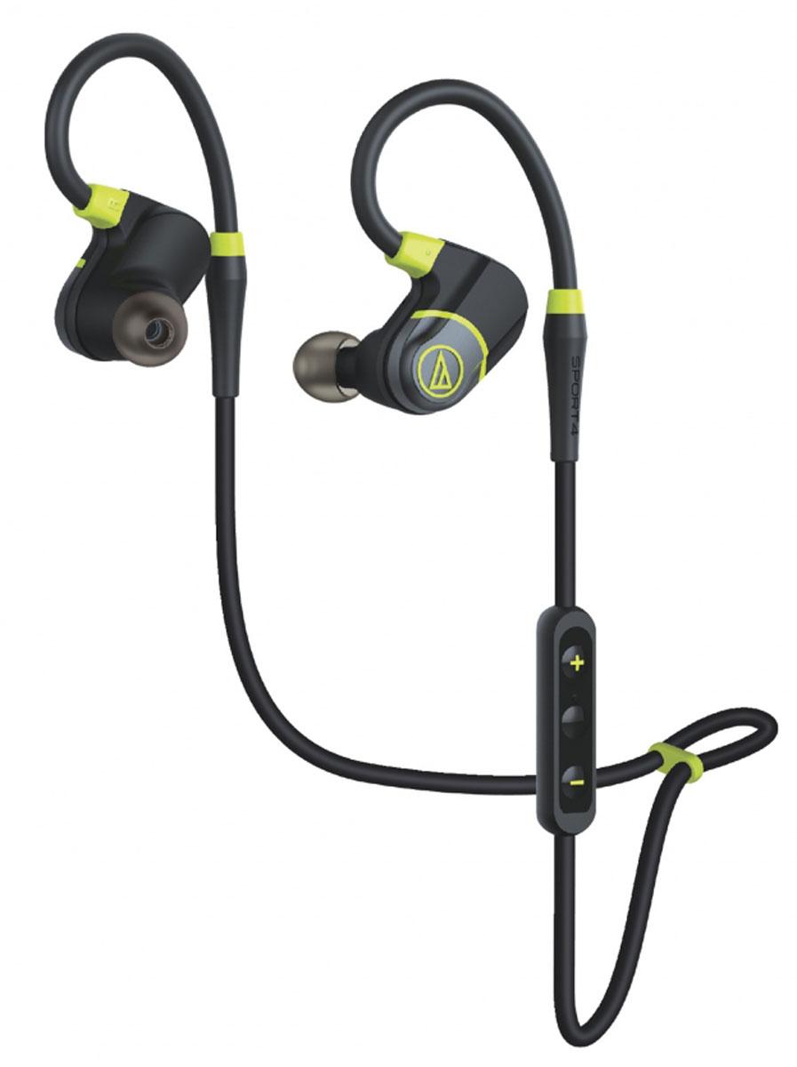 Audio-Technica ATH-SPORT4, Black Green Bluetooth-гарнитура15118833ATH-SPORT4 – пополнение спортивной серии наушников Audio-Technica, которые добавят вам драйва, когда вы будете тренировать свои мышцы. Это Bluetooth-гарнитура, обеспечивающая беспроводную связь с вашим смартфоном или другим гаджетом (короткий провод используется только для соединения чашек наушников). Модель имеет продуманную конструкцию с гибким, поворачиваемым на 360° заушным креплением, которое обеспечивает надёжную настраиваемую посадку, позволяющую наушникам оставаться на месте даже при самых энергичных движениях. Такая система крепления подойдёт для уха любой формы и размера. Диапазон частот микрофона: 50-8000 Гц Чувствительность микрофона: -44 дБ