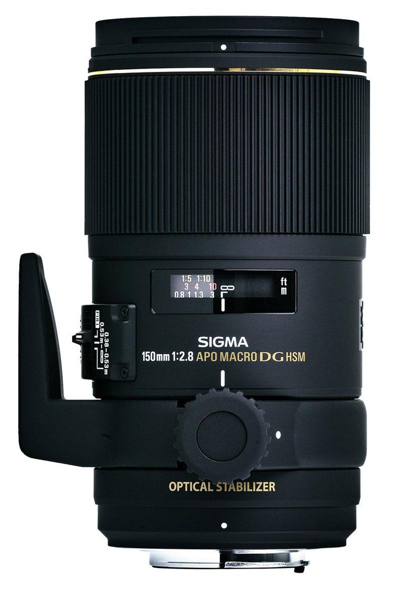 Sigma AF 150mm f/2.8 APO Macro EX DG OS HSM макрообъектив для Sony106962Телемакро-объектив Sigma AF 150mm f/2.8 APO Macro EX DG OS HSM получил встроенный оптический стабилизатор изображения, а также пыле и влагозащиту. Плавающая система фокусировки эффективно компенсирует астигматические и сферические аберрации, обеспечивая высокое качество изображения в диапазоне от бесконечности до макро 1:1. Три элемента из низкодисперсного стекла устраняют все виды оптических искажений, а уникальное многослойное просветление снижает вероятность появления бликов, переотражений и паразитной засветки. Оптический стабилизатор изображения дает запас в 4 ступени экспозиции. Ультразвуковой мотор фокусировки обеспечивает мгновенную и бесшумную фокусировку. Круглая 9-ти лепестковая диафрагма формирует приятное боке. Минимальная дистанция фокусировки 38 см.