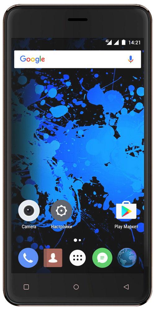 Highscreen Power Rage Evo, Brown23528Highscreen Power Rage Evo - металлический смартфон с мощным аккумулятором. Давно мечтал о новом смартфоне, который круто выглядит, долго работает, да еще и имеет металлический корпус? Highscreen реализовали твои мечты в Power Rage Evo. Отличительная особенность серии Power - батарея с рекордной ёмкостью, которая позволяет использовать все возможности твоего смартфона. Power Rage Evo построен на базе энергоэффективного Android 6, процессора MT6737 и обладает 3 ГБ оперативной памяти, что позволяет ему справляться с любыми задачами и эффективно контролировать заряд батареи. Смартфон ощущается и выглядит дороже своей стоимости, изящные линии корпуса и металлическая крышка выделяют Power Rage Evo из толпы безликих смартфонов. Power Rage Evo обладает ярким и контрастным 5-дюймовым IPS-дисплеем, закругленным по краям. Экран отображает естественные цвета, поэтому смотреть фильмы и играть в игры на нем особенно приятно. ...