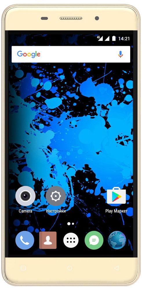 Highscreen Power Rage Evo, Gold23529Highscreen Power Rage Evo - металлический смартфон с мощным аккумулятором. Давно мечтал о новом смартфоне, который круто выглядит, долго работает, да еще и имеет металлический корпус? Highscreen реализовали твои мечты в Power Rage Evo. Отличительная особенность серии Power - батарея с рекордной ёмкостью, которая позволяет использовать все возможности твоего смартфона. Power Rage Evo построен на базе энергоэффективного Android 6, процессора MT6737 и обладает 3 ГБ оперативной памяти, что позволяет ему справляться с любыми задачами и эффективно контролировать заряд батареи. Смартфон ощущается и выглядит дороже своей стоимости, изящные линии корпуса и металлическая крышка выделяют Power Rage Evo из толпы безликих смартфонов. Power Rage Evo обладает ярким и контрастным 5-дюймовым IPS-дисплеем, закругленным по краям. Экран отображает естественные цвета, поэтому смотреть фильмы и играть в игры на нем особенно приятно. ...