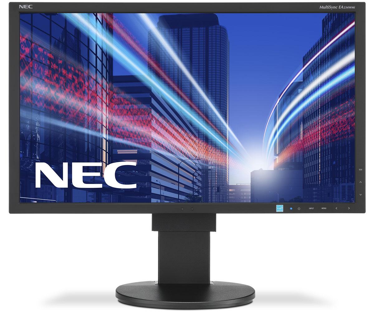 NEC EA234WMi, Black монитор60003588Монитор NEC EA234WMi обладает очень тонкой панелью со светодиодной подсветкой и IPS-технологией, что обеспечивает ультрасовременный и ультратонкий дизайн в сочетании с характеристиками, идеальными для корпоративного офисного использования. Датчик рассеянного света и датчик присутствия являются стандартными характеристиками данной модели, кроме того, модель обладает улучшенными эргономическими характеристиками, например, механизмом регулирования высоты до 130 мм. Дисплей также располагает широкими возможностями соединения, 3 входами: DisplayPort, DVI-D и D-Sub. Благодаря превосходному качеству изображения IPS с широким углом обзора в формате экрана 16:9 данная модель обладает высоким уровнем эргономического комфорта. Датчик рассеянного света - благодаря функции автоматической яркости Auto Brightness всегда можно оптимизировать уровень яркости в зависимости от освещения и условий изображения. Датчик присутствия человека - определяет присутствие...