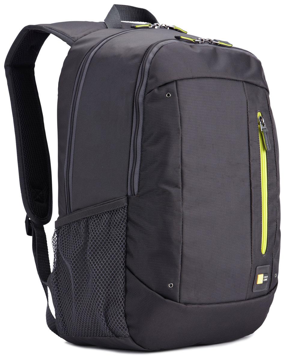 Case Logic Jaunt WMBP-115, Antracite рюкзак для ноутбука 15.6''WMBP-115_ANTHRACITEИзящное решение для ежедневного удобного и безопасного перемещения электроники и необходимых аксессуаров. Встроенный отдел для ноутбука 15,6, чехол для планшета и внутренний карман для хранения шнура питания позволяют держать электронику под рукой. Возможен быстрый доступ к часто используемым вещам через передний отдел, а организационная панель сохранит аксессуары в порядке, где бы вы ни находились в этот день. Вшитый отдел для ноутбука 15,6 и чехол для планшета В передний карман можно положить необходимые в пути предметы, например телефон или жевательную резинку. Внутренний карман для хранения зарядных устройств и кабелей предотвращает их спутывание Сетчатые боковые карманы предназначены для бутылок с водой. Панель-органайзер позволяет хранить небольшие аксессуары, а благодаря петлям для ручек вы всегда сможете сделать необходимую запись