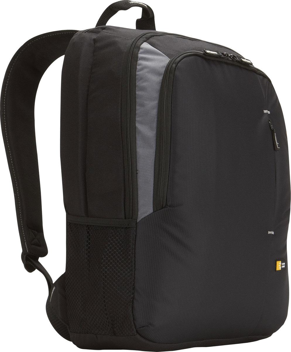 Case Logic VNB-217, Black рюкзак для ноутбука 17VNB-217_BLACKОбтекаемая форма и продуманная организация внутреннего пространства дополняют минимализм дизайна. Сумка вмещает ноутбук с диагональю экрана до 17, обеспечивая удобное размещение всех необходимых аксессуаров. Отделение с застежкой-молнией (2 см) для ноутбуков с широким экраном до 17 Вместительное отделение для книг, файлов и папок Панель-органайзер для портативной электроники, ручек и других аксессуаров. Запатентованная технология внешнего кармана Speed Pocket — быстрый доступ и надежное место для размещения ценных вещей (наручных часов, ключей, телефона и т. д.) перед прохождением таможенного контроля в аэропорту Внешний сетчатый карман для бутылки воды, закусок или других небольших принадлежностей Регулируемый плечевой ремень и ручка для удобства транспортировки