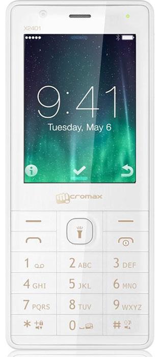 Micromax X2401, White Champagne