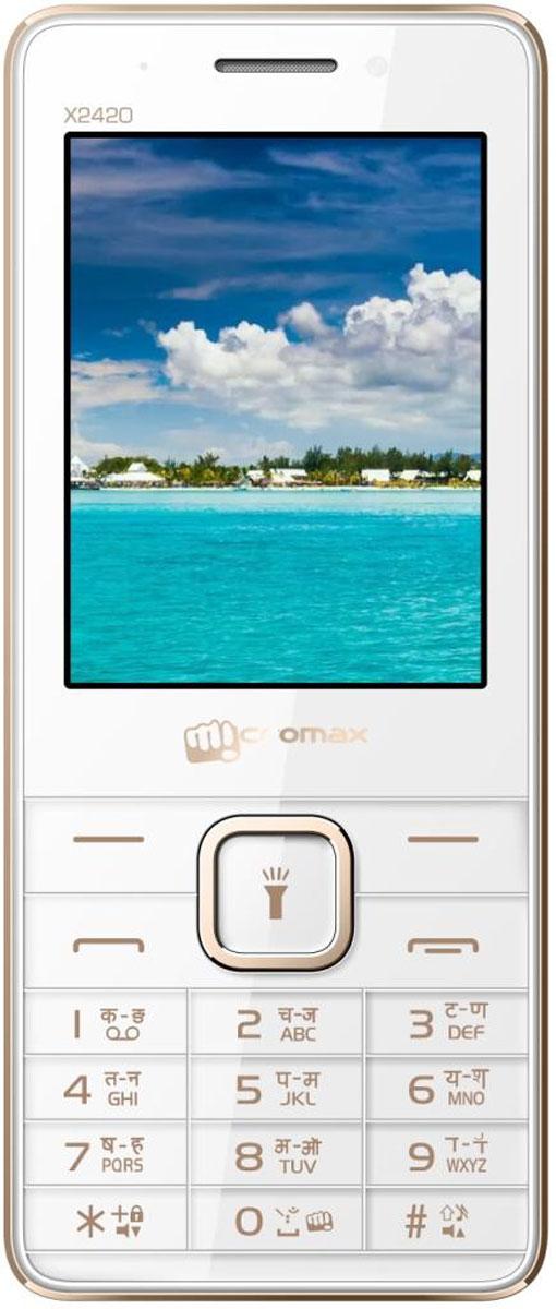 Micromax X2420, White Champagne