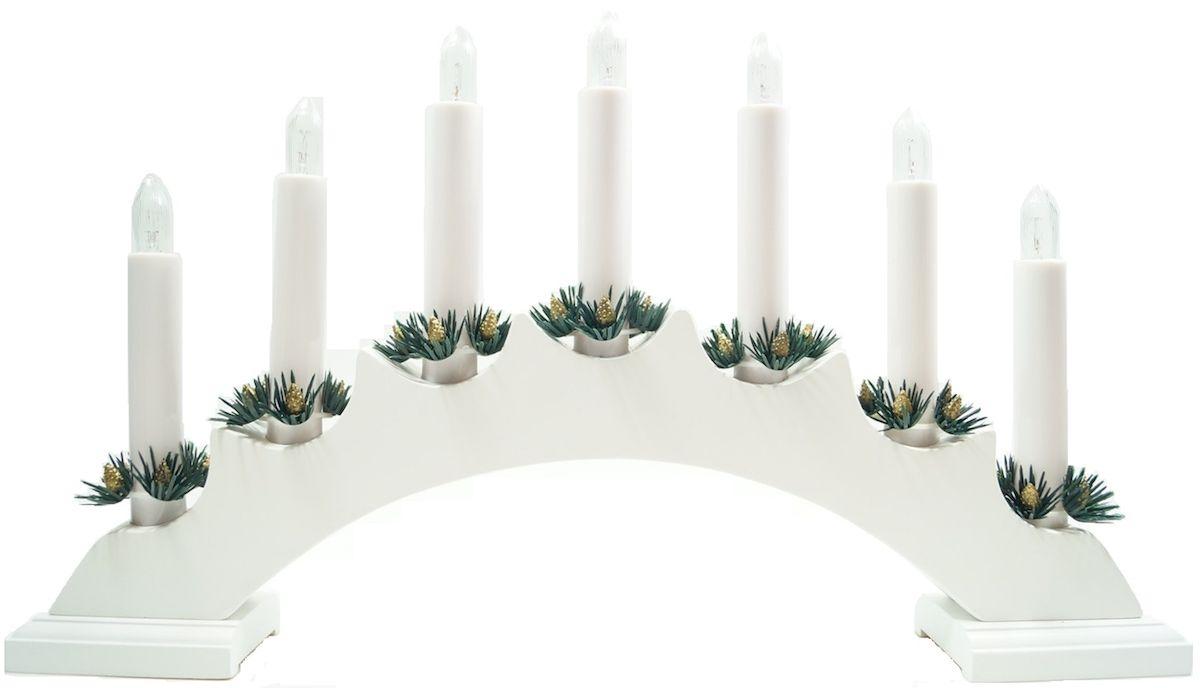 Горка рождественская Svetlitsa Вера, цвет: белый. 16-151-4816-151-487 свечей выс/шир. 23х42 см, белый, провод 1,8 м
