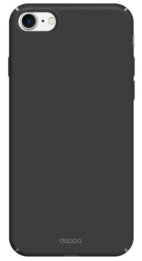 Deppa Air Case чехол для Apple iPhone 7, Black83267Чехол Deppa Air Case для Apple iPhone 7 - случай редкого сочетания яркости и чувства меры. Это стильная и элегантная деталь вашего образа, которая всегда обращает на себя внимание среди множества вещей. Благодаря покрытию soft touch чехол невероятно приятен на ощупь, поэтому смартфон не хочется выпускать из рук. Ультратонкий чехол (толщиной 1 мм) повторяет контуры самого девайса, при этом готов принимать на себя удары - последствия непрерывного ритма городской жизни.
