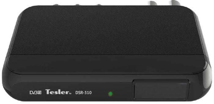 Tesler DSR-310 цифровой телевизионный ресивер DVB-T/T20291656Tesler DSR-310 - компактная модель без дисплея, но при этом ей присущи все достоинства DVB-T/T2 ресивера. Встроенный телегид поможет вам определиться с выбором интересного сериала, фильма или передачи. Кроме того, любой фрагмент эфира может быть записан на внешний накопитель и воспроизведен в любое удобное для вас время. Также Tesler DSR-310 может использован для воспроизведения мультимедийного контента. Чипсет: ALIi3812 ALAA Тюнер: SONY CXD2861ER